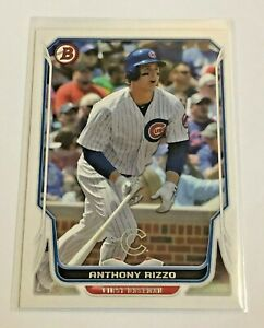 2014-Bowman-Baseball-Base-Card-72-Anthony-Rizzo-Chicago-Cubs