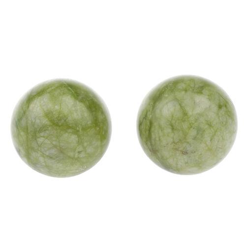 2 stücke Natürliche Jade Stein Farbe Hand Übung Massage Ball Tiefengewebe