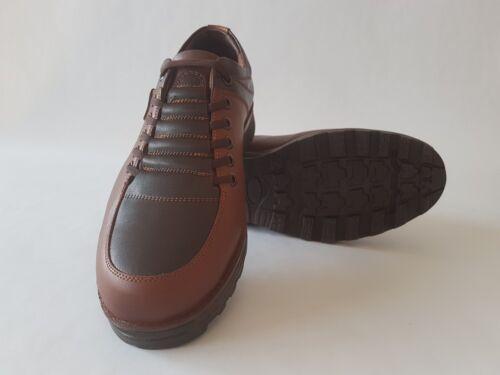 Echt Leder señores zapato bajo schnürschuhe-marrón claro//marrón oscuro talla 40-44