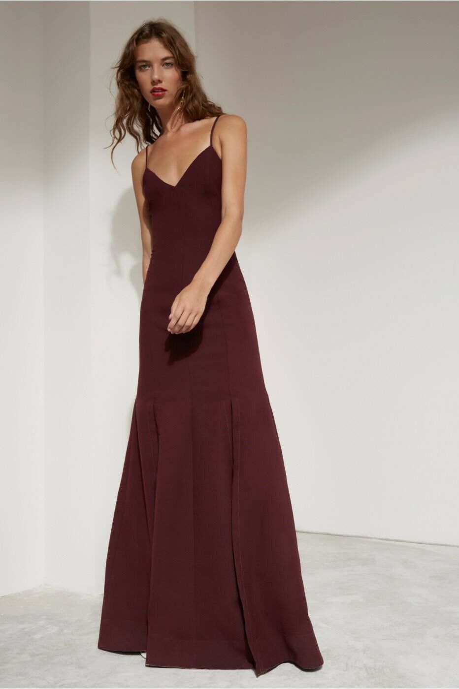 C MEO MEO MEO COLLECTIVE Red Maxi Dress Oblivion Full Length Burgundy Gown formal XS 8c7306