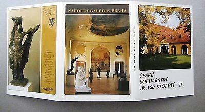 Hell Lot Sammlung Leporello 12x Postkarten Ceske Socharstvi Tschechien Ungelaufen Senility VerzöGern