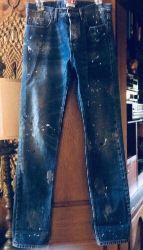 Boyfriend Splatter Sz Msgm Paint Jeans 42 41wvx06q