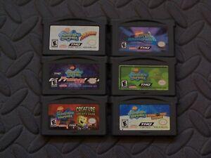 Lot of 6 Nintendo Game Boy Advance GBA Games SpongeBob SquarePants