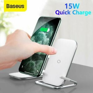 Baseus Qi 15W Wireless Charger Fast Charging Stand Dock For iPhone 11 X Samsung