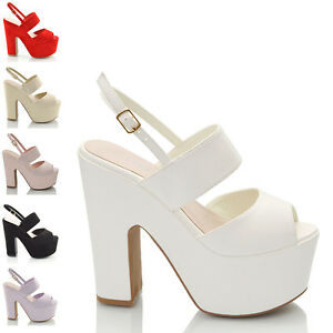 WOMENS-HIGH-HEEL-CHUNKY-SOLE-PLATFORM-LADIES-WEDGED-STRAPPY-SANDAL-SHOES-SIZE
