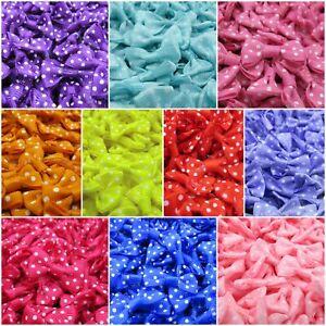 Small-Polka-Dot-Ribbon-Bows-10-Colours-Packs-of-10-3-FOR-2