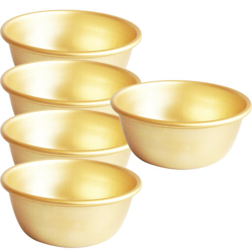 "5.3/"" x 5 Korean Spirit Makgeoli Rice wine drinking bowl aluminum bowl"