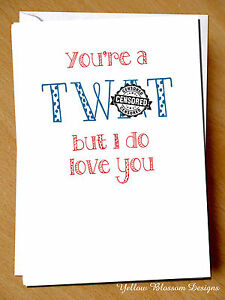 Greeting Card Love You Comedy Funny Comical Couple Humour