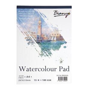 papier-aquarelle-papier-pad-art-papier-a-dessin-sketchbook-15-feuilles-a3