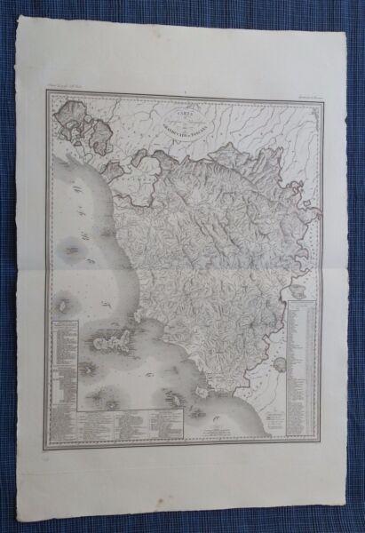 157 Zuccagni Orlandini 1845 Carta Idrografica Granducato Toscana Cvmp17/11/17