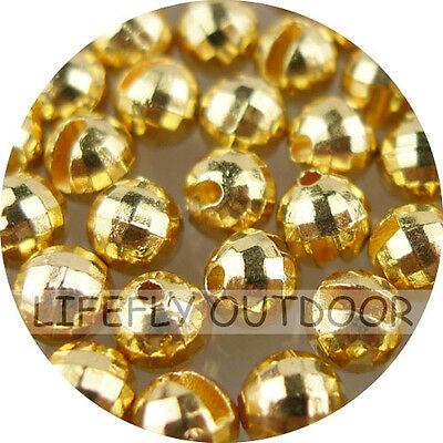 Slotted Tungsten Bead Yellow 10 Stck