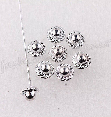 20Pcs Silver Golden Plated Metal Head/Crown/Ball Pins Jewelry Making Charms 50mm