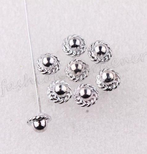 20//100Pcs Argent Plaqué Or Métal Couronne//Bille//Head Pins Jewelry Finding À faire soi-même 50 mm