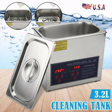 Us Stainless Ultrasonic Cleaning Tank Ultra Sonic Bath Cleaner Timer Heated 32l