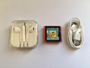 Apple Ipod Nano 6th Generation Red 8gb Mint Ebay