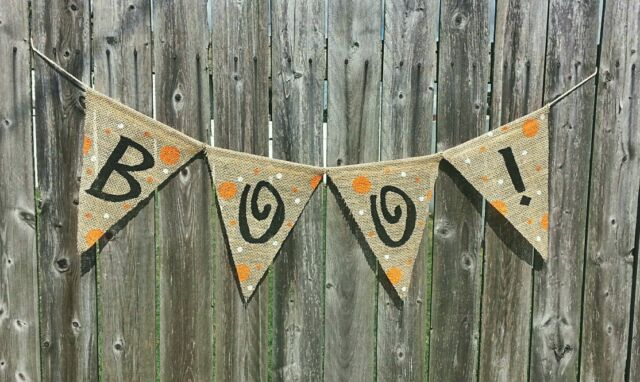 BOO! Burlap Banner Halloween decoration