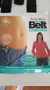 Maternity Clothing Fertile Mind Button Up Belly Belt Pregnancy Expandable Jeans New Aesthetic Appearance