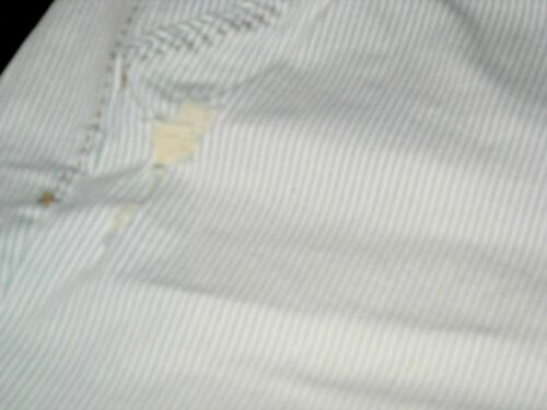 Lane Bryant Railroad Stripe Distressed Destructed Stretch Denim Bermuda Shorts