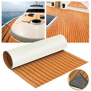 EVA-Bodenbelag-890x2300x6mm-Fussboden-Teak-Selbstklebend-Matt-fuer-Yacht-Boot