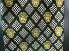 "Authentic Gianni Versace Medusa Necktie Tie Black Gold 56"" 100% Silk Classic EUC"