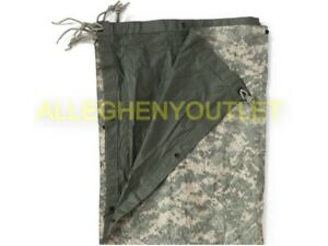 Military Reversible Field Tarp ACU 80 x 80 Ground Cloth Tarpaulin Shelter DEFECT