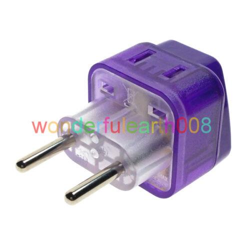2 en 1-Universel Pour l/'UE Europlug Prise Électrique Adaptateur AC100 ~ 250 V 10 A WAD-9C