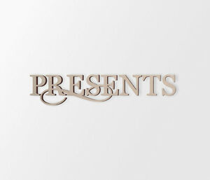 Presents Wall Decor Word - Cutout, Home Decor, Unfinished