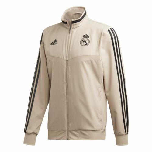 Real Madrid Football Presentation Jacket Mens Top Gold