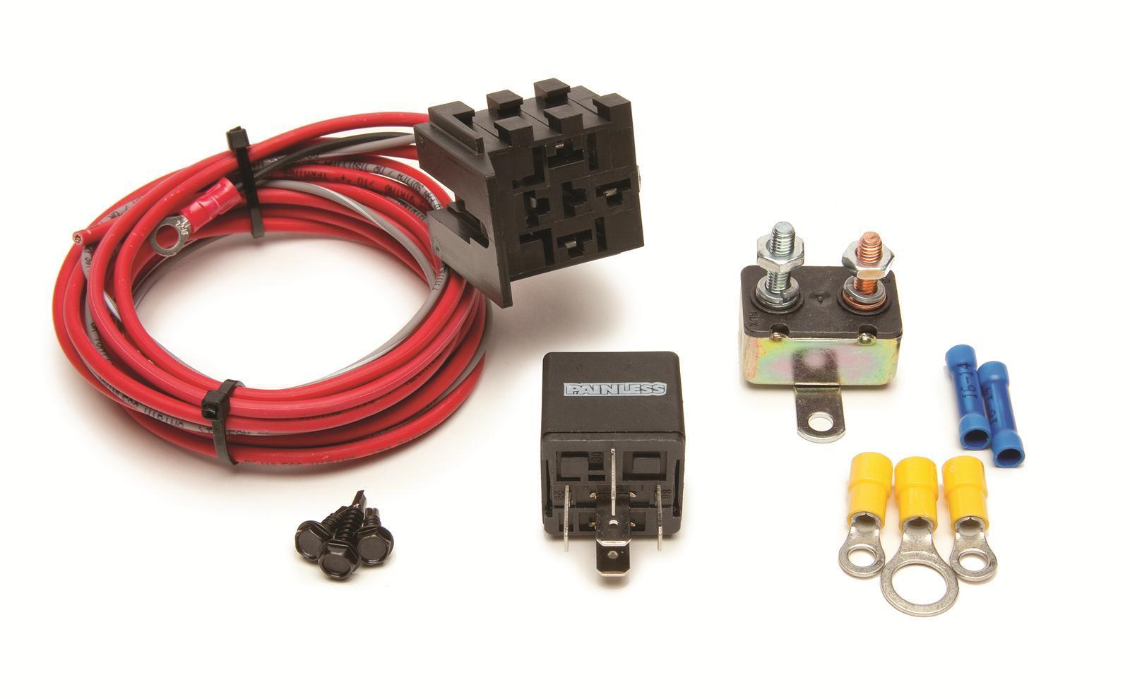Painless Performance Products 30101 Fan Thom Electric Relay Kit Wiring Ebay