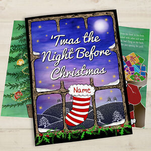 Personalised-Twas-The-Night-Before-Christmas-Book-Softback-Gift-Idea-Children