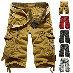 Amy Mens Summer Engineer 3/4 Cargo Pants Below Knee Army Combat ...
