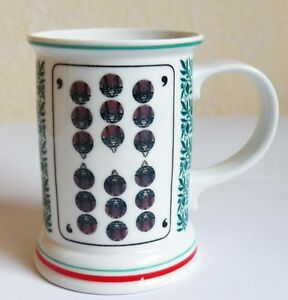 Porzellan - Krug– Becher - Motiv Skatblatt Nr. 9 - 11,5 cm hoch
