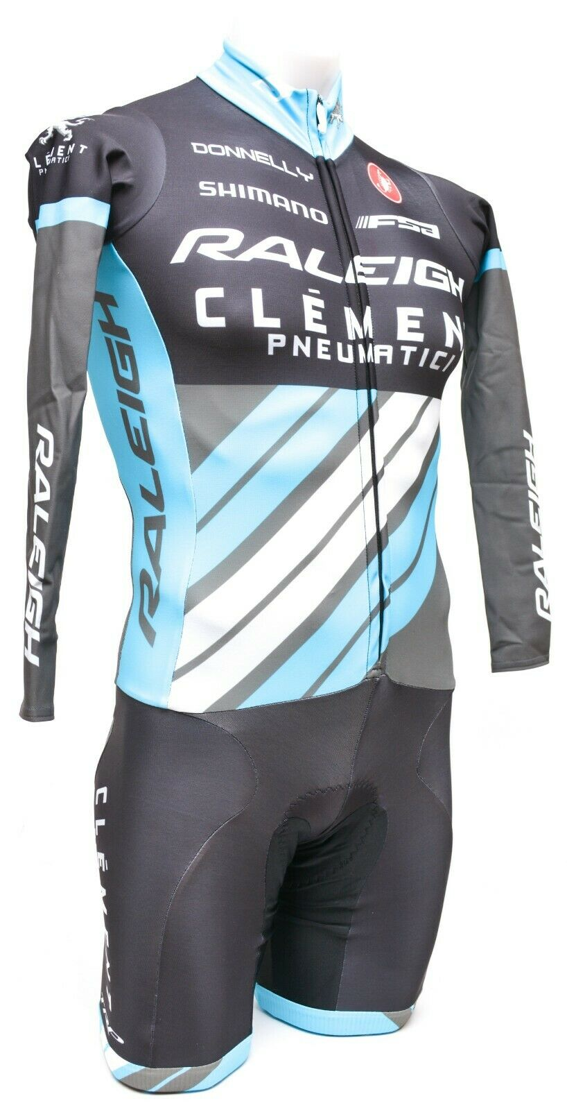 Castelli Raleigh Long Sleeve Thermal Skinsuit Men XS Road Bike Cyclocross CX MTB