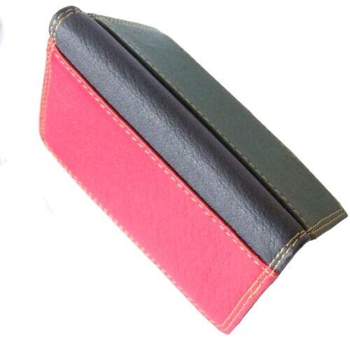 Multi couleur en cuir souple carte de crédit titulaire wallet red /& green 737