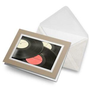 Greetings-Card-Biege-Vinyl-Music-Records-Retro-Vintage-DJ-24397