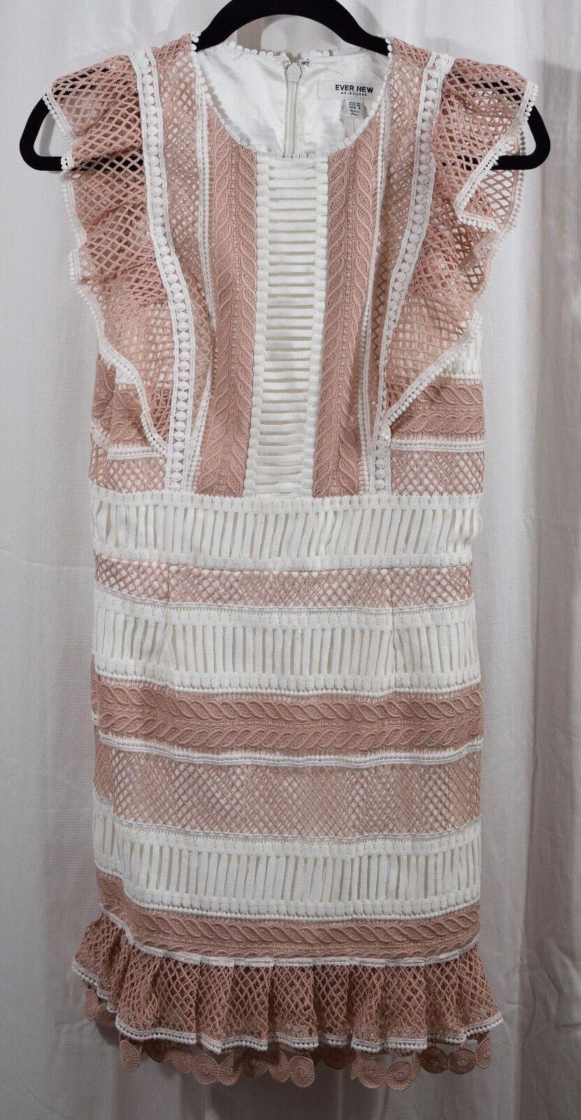 Ever New Melbourne Kingston Lace Frill Dress Größe US 6