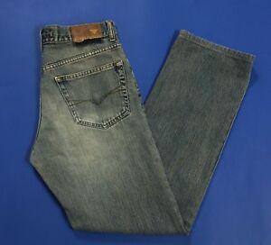 Guess-jeans-uomo-usato-W31-tg-45-strappati-boyfriend-destroyed-blu-denim-T3061