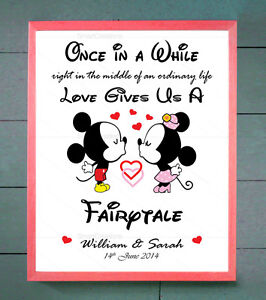 valentines personalised mickey minnie disney him her couples