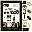 Happy-New-Year-039-s-Eve-fete-photo-booth-props-Fournitures-De-Decoration-Avec-Cadre-Lunettes miniature 8