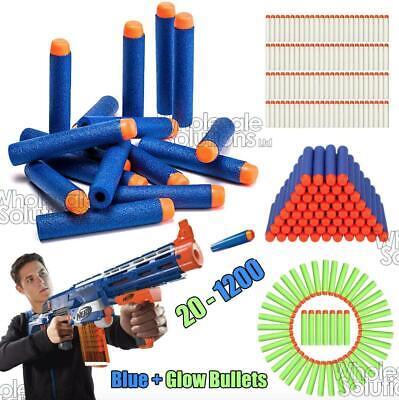 100x Bullet Darts For NERF Kids Toy Gun N-Strike Round Head Blasters For Kid Toy