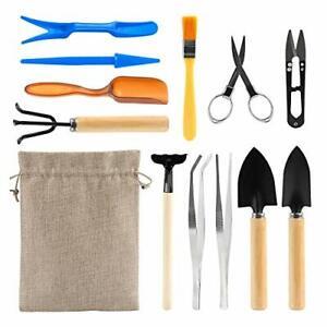 12 Piece Basic Bonsai Tools Set Succulent Garden Hand Tools