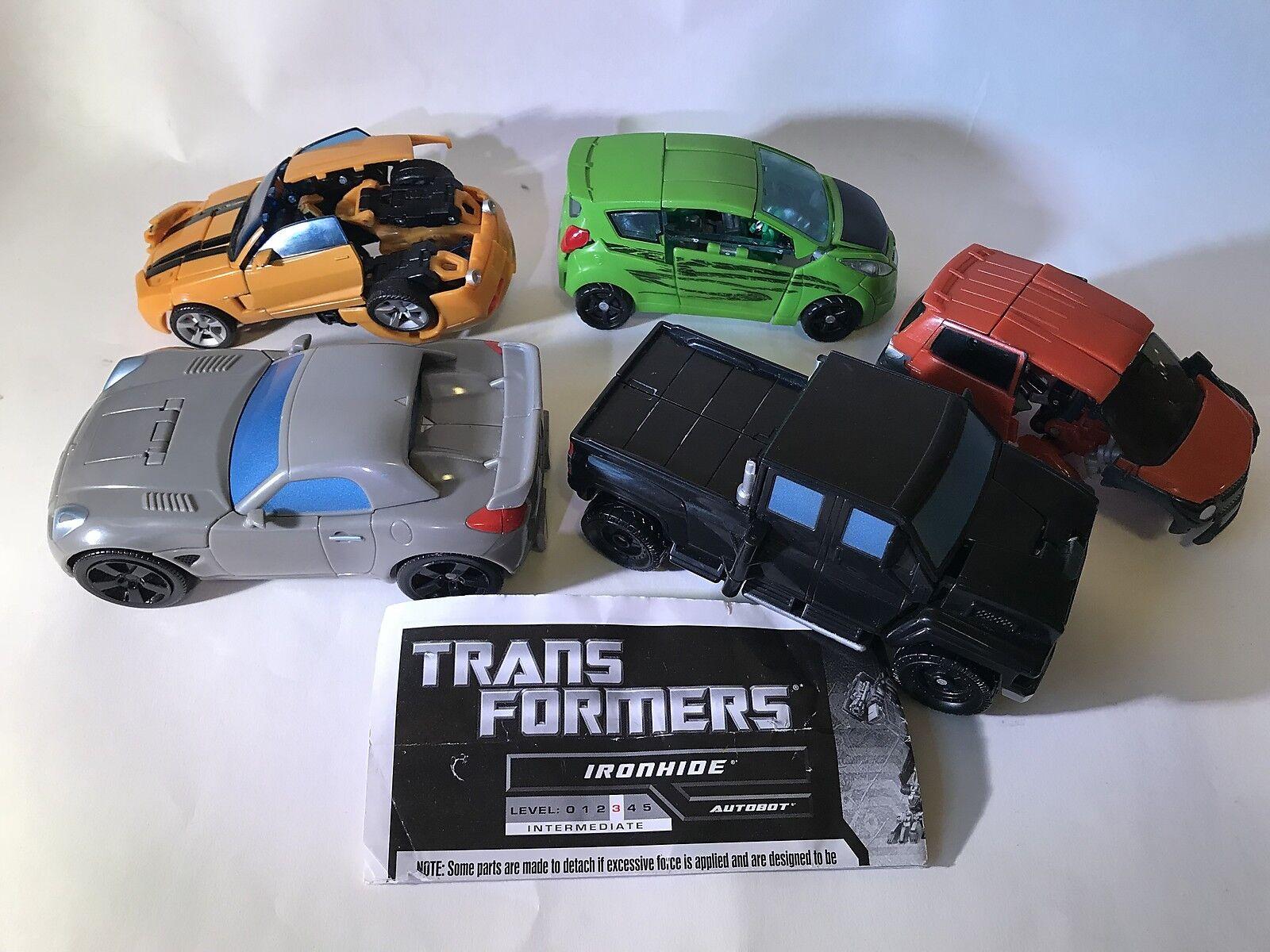 Vtg Transformers car LOT Skids Mudflap Bumblebee Jazz Ironhide retro 2006 Hasbro
