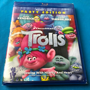 DreamWorks-Trolls-Party-Edition-Blu-ray-DVD-New-Sealed-Ships-Same-Day-Free