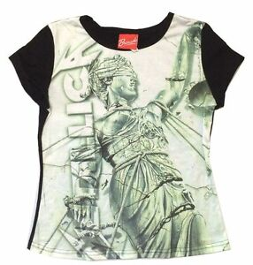 68fc0db2a Metallica And Justice For All Green Print Girls Juniors Black Shirt ...