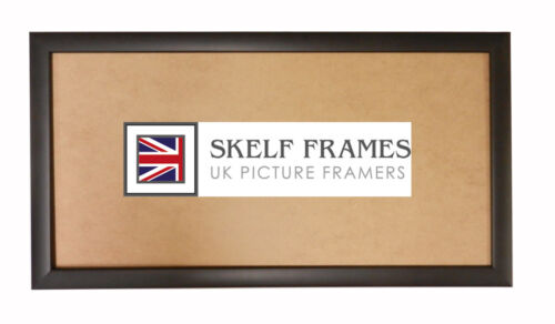 SKELF FRAMES - MATT BLACK WOOD PANORAMIC PICTURE PHOTO POSTER FRAME WITH GLASS