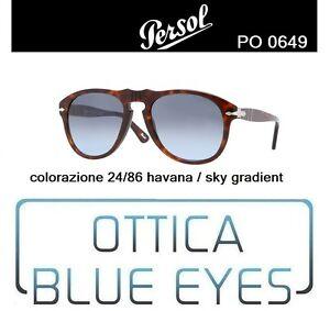 2623cde27e6 Occhiali da Sole Persol PE 0649 649 24 86 Havana Blue gradient ...