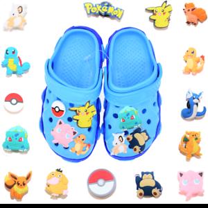 15 pcs Pokemon Croc Charms for Croc /& Bracelet /& shoes Wristband Kids Party