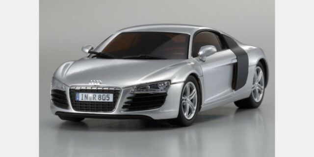 Kyosho DNX507S Dnano Auto Scale Collection Audi R8 2006 Grey (Body) 1:43