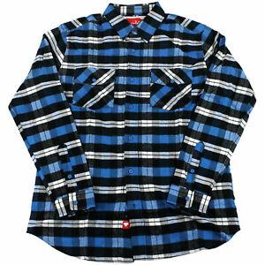 CHOCOLATE-Skateboard-Longsleeve-Flannel-Shirt-DIAMOND-BLUE