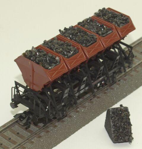 043 h0 enormemente para Märklin muldenkippwagen 46355, 4635, 46353, carbón, embalaje original